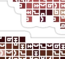 FEZ Rosetta Stone Tiles Sticker