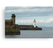 Sea wall, Whitehaven harbour Canvas Print