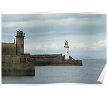 Sea wall, Whitehaven harbour Poster
