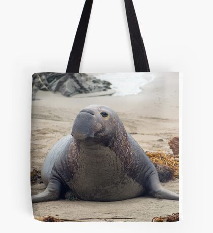 elephant seal alpah male Tote Bag