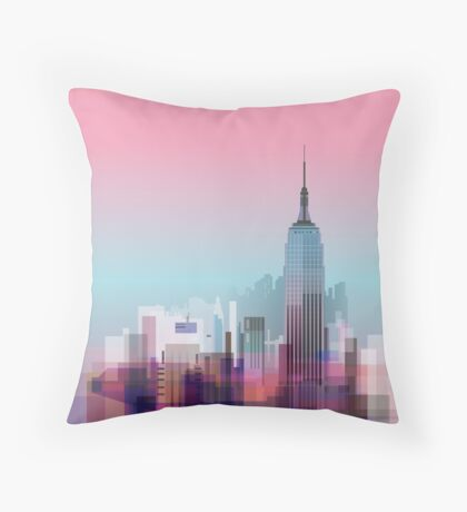 New york, NYC city ! Throw Pillow