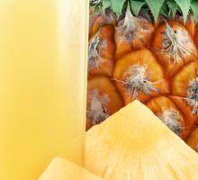 Glass of pineapple juice Sticker
