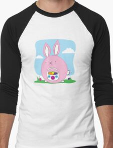 Easter Bunny with basket and eggs Men's Baseball ¾ T-Shirt