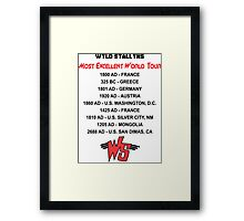 Bill & Ted's Band Tour shirt Framed Print