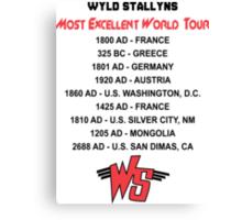 Bill & Ted's Band Tour shirt Canvas Print