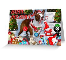 The Santa Dog..........cards Greeting Card