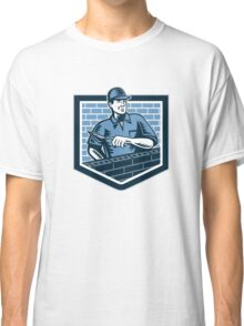 Brick Layer Mason Masonry Worker Retro Classic T-Shirt