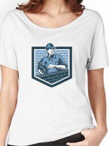 Brick Layer Mason Masonry Worker Retro Women's Relaxed Fit T-Shirt