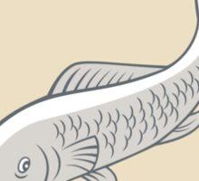 Trout Swimming Cartoon Circle Sticker