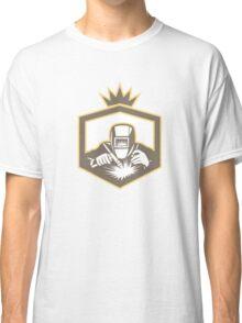 Welder Fabricator Welding Torch Shield Retro Classic T-Shirt