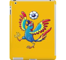 Cool Macaw Playing with a Soccer Ball on its Head iPad Case/Skin