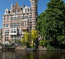 Amsterdam Canal Mansions - the Dainty Tower by Georgia Mizuleva