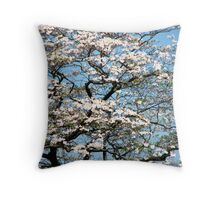 White Dogwood In May Throw Pillow