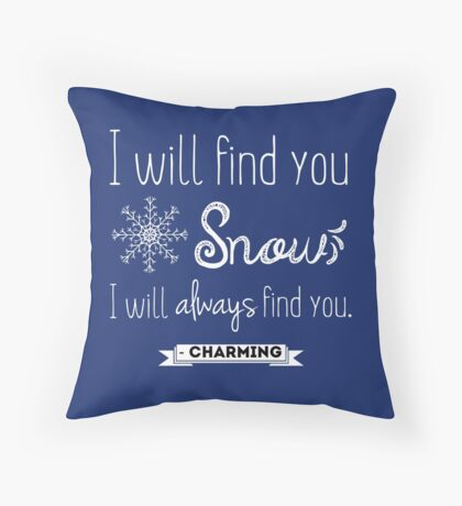 Once upon a time quote (2)  Throw Pillow
