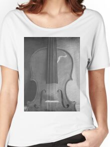 Black White Violin Women's Relaxed Fit T-Shirt