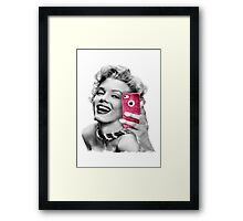 Selfie Marilyn Framed Print
