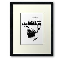 Man Above and Nature Below Framed Print