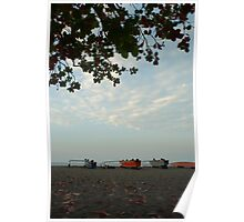 Outrigger canoes Poster
