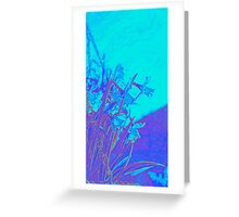 Floral Blue Greeting Card