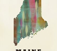 maine state map by bri-b