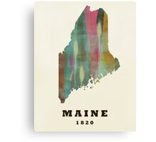 maine state map Canvas Print