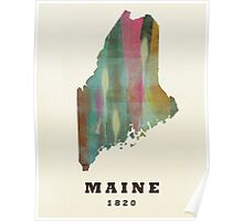 maine state map Poster