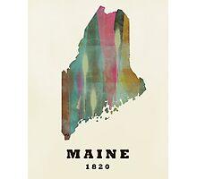 maine state map Photographic Print