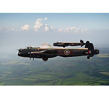 Lancasters AJ-G and AJ-N carrying Upkeeps Photographic Print