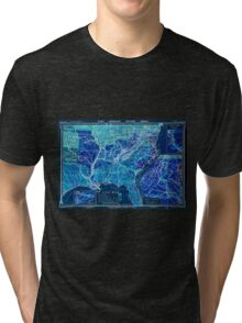 Civil War Maps 1960 Hart-Bolton American history maps Inverted Tri-blend T-Shirt