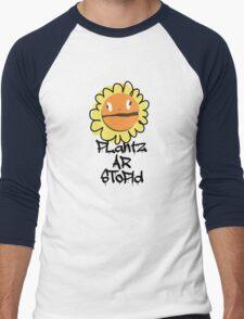 PLantz AR SToPiD, Art Inspired by Plants Versus Zombies: Garden Warfare Men's Baseball ¾ T-Shirt