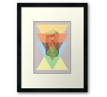 triangles phone Framed Print