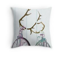 Bicycle Love Throw Pillow