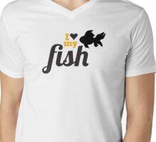 I love my fish Mens V-Neck T-Shirt