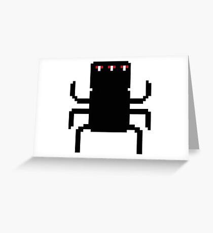 8-Bit Spider-like Creature Greeting Card