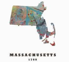 massachusetts state map Kids Clothes