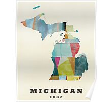 Michigan state map Poster