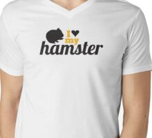 I love my hamster Mens V-Neck T-Shirt