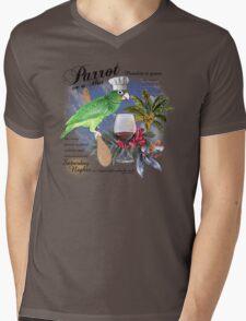 parrot in a hat 8 Mens V-Neck T-Shirt