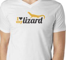 I love my lizard Mens V-Neck T-Shirt