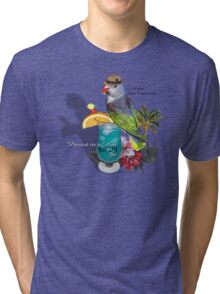 parrot in a hat 8 Tri-blend T-Shirt