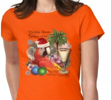 parrot in a hat 8 Womens Fitted T-Shirt