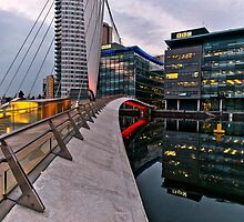Bridge to BBC, Media city, Salford Quays by Stephen Knowles