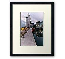 Bridge to BBC, Media city, Salford Quays Framed Print