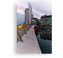 Bridge to BBC, Media city, Salford Quays Canvas Print