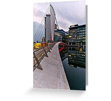 Bridge to BBC, Media city, Salford Quays Greeting Card