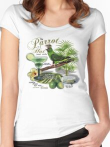 parrot in a hat 8 Women's Fitted Scoop T-Shirt