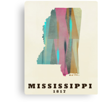 Mississippi state map Canvas Print