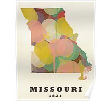 Missouri state map Poster