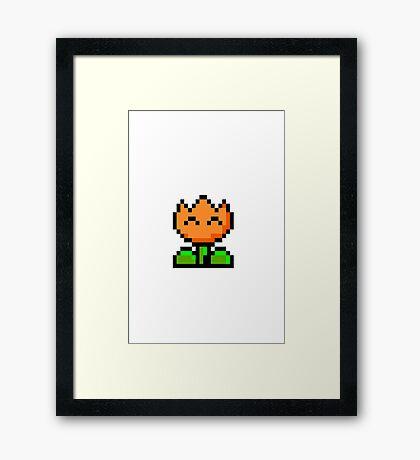 Super Mario bros: Fire Flower  Framed Print