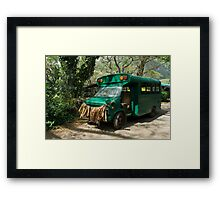 Grass skirted bus Framed Print